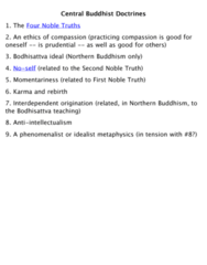 PHL 302 Lecture Notes - Four Noble Truths