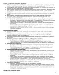 BU491 Chapter Notes -Reverse Innovation, Harman International Industries, Emerging Markets