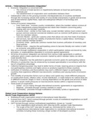 BU491 Chapter Notes -International Monetary Fund, World Trade Organization, Multilateral Investment Guarantee Agency