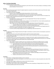 BU491 Chapter Notes -Joint Venture, Experience Curve Effects, Professional Wrestling Throws