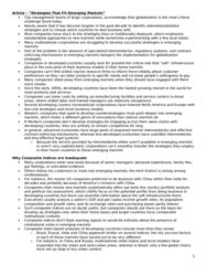 BU491 Chapter Notes -Capital Market, Foreign Corporation, Herd Behavior