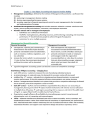 BU247 Lecture Notes - Management Accounting, Financial Statement, Cost Accounting