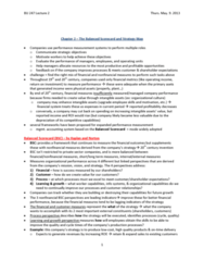 BU247 Lecture Notes - Balanced Scorecard, Strategy Map, Texas Education Agency Accountability Ratings System