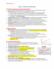 BU247 Lecture Notes - Sunk Costs, Cost Driver, Marginal Cost