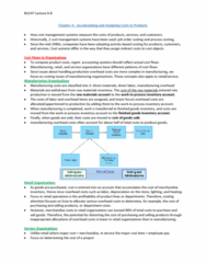 BU247 Lecture Notes - Indirect Costs, Cost Driver, Management System