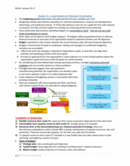 BU247 Lecture Notes - Operating Cash Flow, Cash Flow Statement, Budget