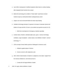 ANT 185 Study Guide - Brain Death