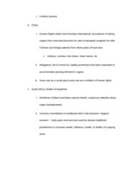 ANT 185 Study Guide - Organ Transplantation, Human Rights Watch