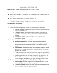 MGT 355 Study Guide - Midterm Guide: Balanced Scorecard, Merit Pay, Profit Sharing