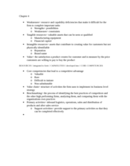 MGT 247 Chapter Notes - Chapter 4: Value Chain