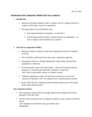 POL 3115 Lecture Notes - Lecture 3: Washington Consensus, Corporatism, Dependency Theory