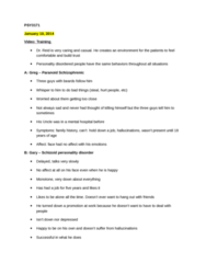 PSY 3171 Lecture Notes - Psychogenic Amnesia, Urinary Retention, Chartered Management Institute