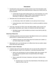 ASTR 101 Chapter Notes -Aurora, Photon, Adaptive Optics