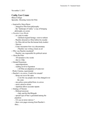 TRM 151 Lecture Notes - Red Brigades, Accattone, Maya Deren