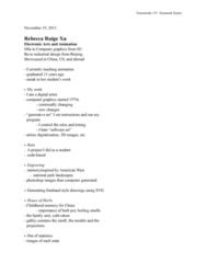 TRM 151 Lecture Notes - Data Center, Procedural Modeling, Software Art