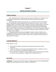 SOC103H1 Chapter Notes - Chapter 7: Bogardus Social Distance Scale, Social Inequality, Interculturalism