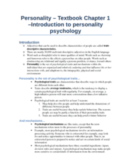 PSYC 2740 Study Guide - Midterm Guide: Personality Psychology, Open Data Protocol, Heritability