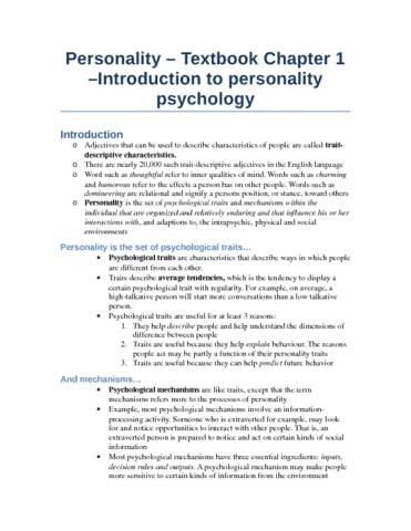 midterm-1-personality-review