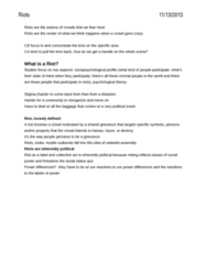 SOC 148 Lecture Notes - Food Riot, Urban Density, Collective Action