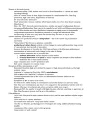 SOCC44H3 Lecture Notes - B Movie, Studio System, Indian Railways