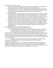 SOCC44H3 Lecture Notes - George Gerbner, Sound Bite, Cultivation Theory