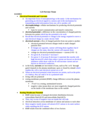 BIOL 1117 Lecture Notes - Resting Potential, Cell Membrane, Electric Field