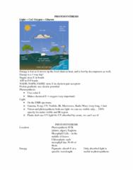 BIOL107 Chapter Notes -Ribulose-1,5-Bisphosphate, Chloroplast, Photosynthesis