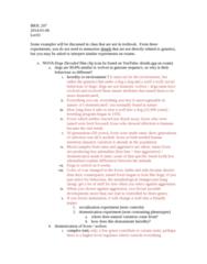 BIOL107 Chapter Notes -Heredity, Auxotrophy, Pleiotropy