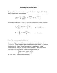 MATH 251 Lecture Notes - Fourier Series, Periodic Function
