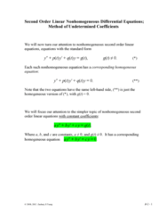 MATH 251 Lecture Notes - System Of Linear Equations, Second Order (Religious), Kiis 101.1