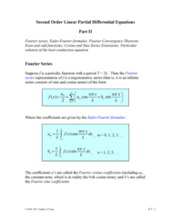 MATH 251 Lecture Notes - Fourier Series, Periodic Function, Trigonometric Series