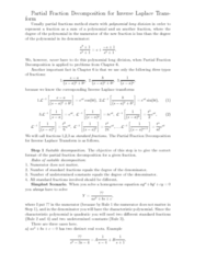 MATH 251 Lecture Notes - Polynomial Long Division, Partial Fraction Decomposition, Junkers J 1