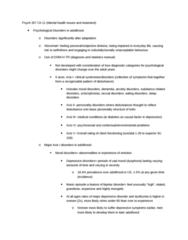 PSYC 357 Chapter Notes -Obsessive–Compulsive Disorder, Posttraumatic Stress Disorder, Generalized Anxiety Disorder