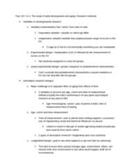PSYC 357 Chapter Notes -Dcf Interframe Space, Design Of Experiments, Longitudinal Study