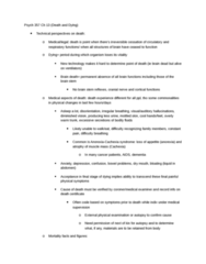 PSYC 357 Chapter Notes -Terror Management Theory, Colorectal Cancer, Brain Death