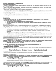 ADMS 3531 Chapter Notes - Chapter 1: Capital Loss, Scotiabank, Risk Premium
