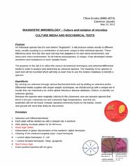 MCB 3020L Lecture Notes - Phosphate, Osmoregulation, Resazurin