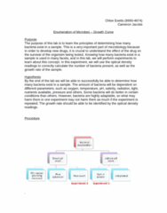 MCB 3020L Lecture Notes - Diluent, Hemocytometer, Rate Equation