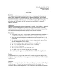 MCB 3020L Lecture Notes - Endospore, Hookworm Infection, Apicomplexa