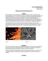 MCB 3020L Lecture Notes - Pubic Hair, Commensalism, Tinea Cruris