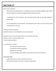 ECON 0110 Lecture Notes - Laffer Curve, Arthur Laffer, Aggregate Supply