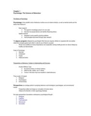 PSYC 1000 Chapter Notes - Chapter 1: Psychoanalysis