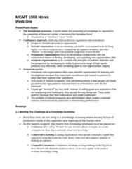 MGMT 1000 Chapter Notes -Bp, Urban Sprawl, Visible Minority