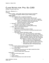 POLSCI 2J03 Lecture Notes - World Trade Organization, Remittance, Underconsumption