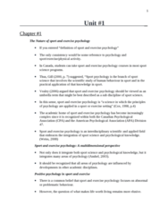 Sport Psychology - All Notes.doc