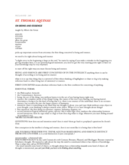 PHIL249 Study Guide - Quiddity, Freckle, Averroes