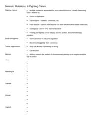 BIOL1010 Lecture Notes - Monosomy, Pus, Albinism