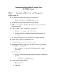 BU288 Study Guide - Midterm Guide: Absenteeism, Stereotype, Organizational Commitment