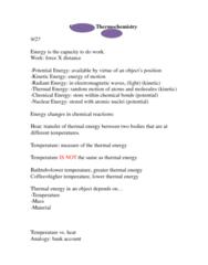 CHEM 1320 Study Guide - Thermodynamics, Enthalpy, Sulfuric Acid