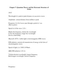 CHEM 1320 Study Guide - Hmu Language, Diamagnetism, Fluorine